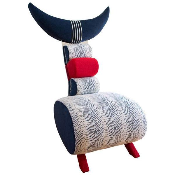"Contemporary One-of-a-Kind Nathalie Guez ""Scorpio"" Designer Upholstered Chair"