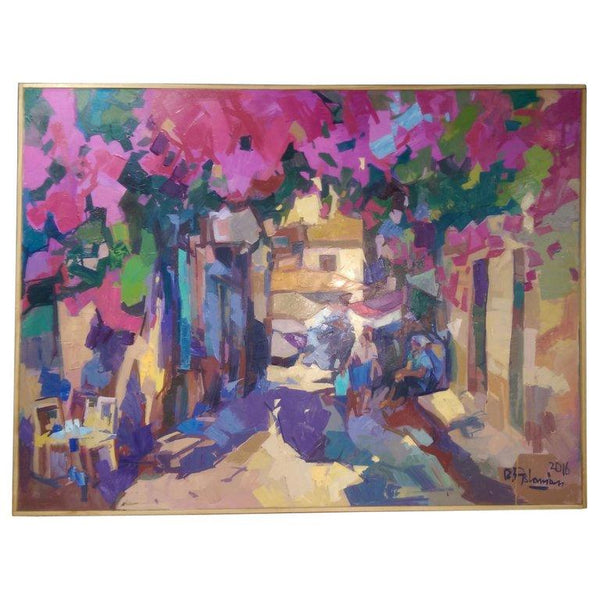 'Le Jardin' Vibrant Oil on Canvas Contemporary Painting Bedros Aslanian