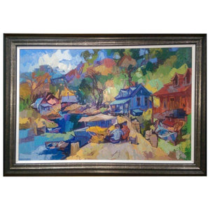 'Charlevoix' Contemporary Oil on Board Painting by Bedros Aslanian