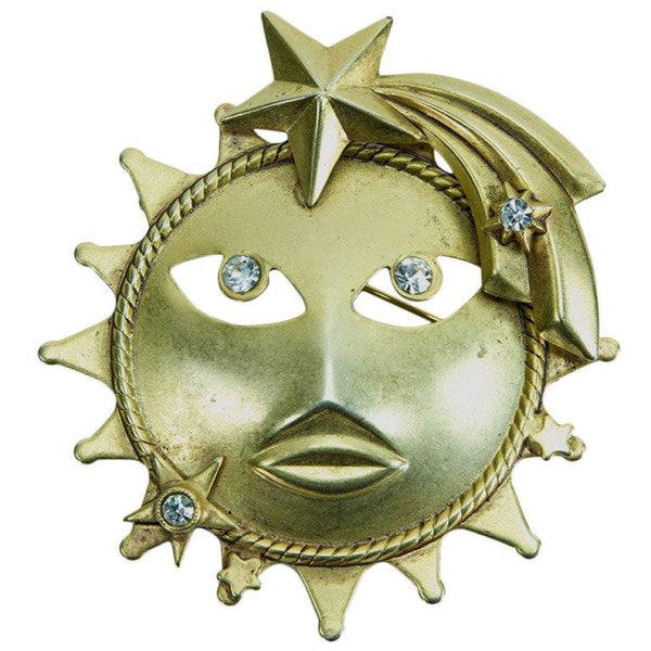 VIintage Askew London Sun Brooch Pin