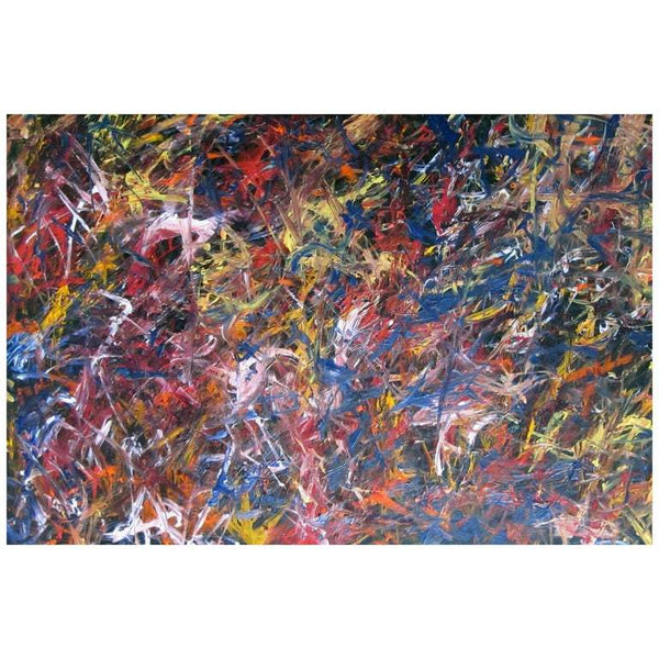 "Abstract Acrylic on Canvas Painting ""Tireless Defender"" by Alexander Hecht"