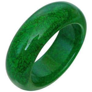 Natural Maw-Sit-Sit Jade Statement Bangle Bracelet