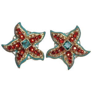 Kenneth Jay Lane KJL Starfish Earrings
