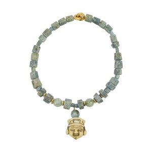 Aquamarine and Netsuke Statement Necklace