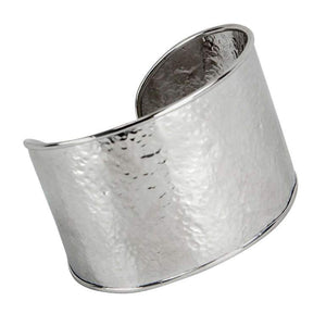 Chunky Mid Century Modern Sterling Silver Cuff Bracelet