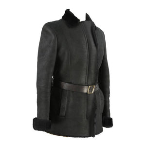 Gucci Black Shearling Fur Jacket US Size 8