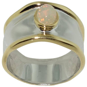 Striking Ethiopian Opal Solitaire Sterling Silver Ring