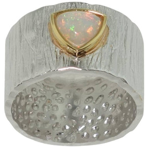 .81 Carat Ethiopian Opal Solitaire Statement Ring