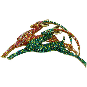 Butler Wilson Swarovski Crystals Deer Statement Brooch Pin