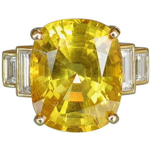 26.46 Carat Danburite and Diamond Gold Ring