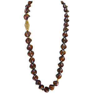 Beautiful Carnelian and Gold Bead Statement Necklace