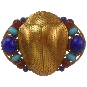 Fabulous Askew London Egyptian Revival Scarab Statement Brooch Pin