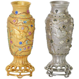 Rare Judith Leiber Asian Holiday Vases