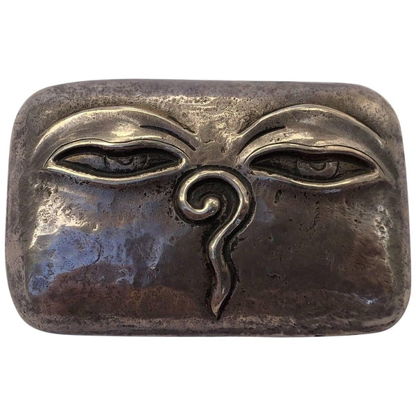 Artisan Art Face Modernist Sterling Silver Statement Brooch Pin