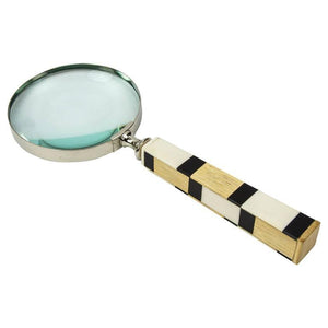 Magnifier with Chrome and Celluloid Wood Handle