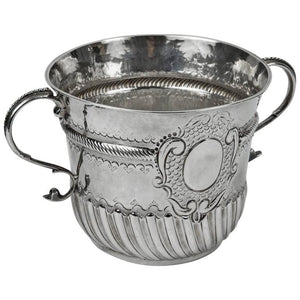 Antique Queen Anne Britannia Sterling Silver Porringer Cup England circa 1703