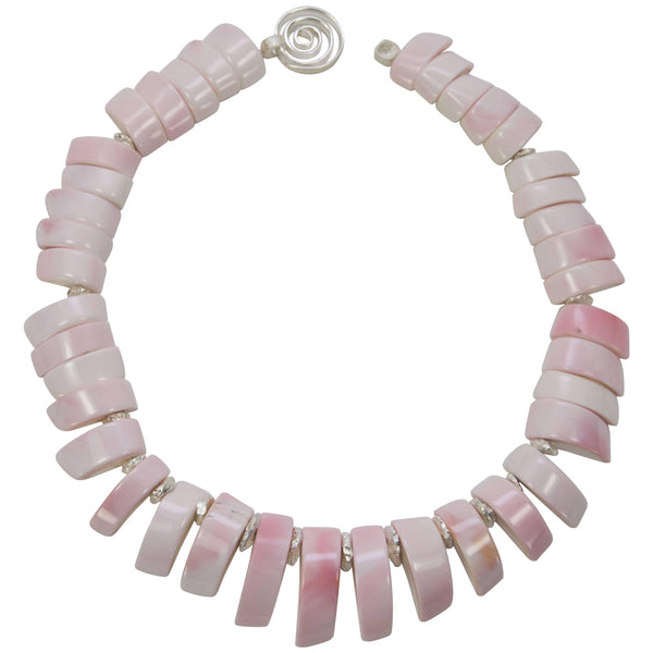 Awesome Blush Pink Conch Shell Statement Necklace