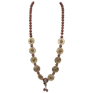 Beautiful Old Tibet Reconstructed Coral Beads Gilt Silver Necklace