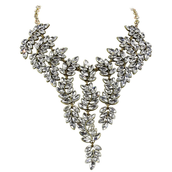 Kenneth Lane KJL Swarovski Crystal Bib Statement Necklace