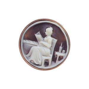 Lovely Lady Cameo Rose Gold Silver Ring
