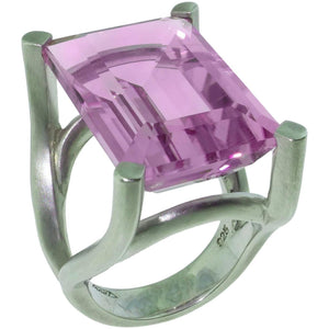 27.33 Carat Solitaire Rose de France Statement Ring