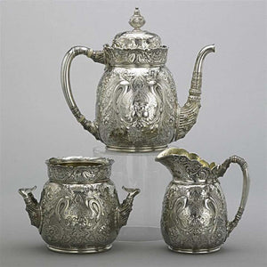 Antique Tiffany & Co. Sterling Silver Saracenic Tea Set