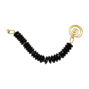 Black Spinel Gilt Sterling Silver Bracelet
