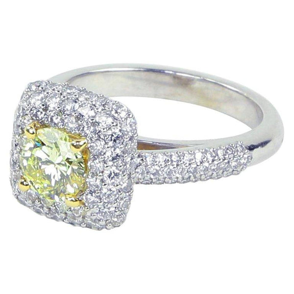 Fancy Yellow Diamond Gold Engagement Ring