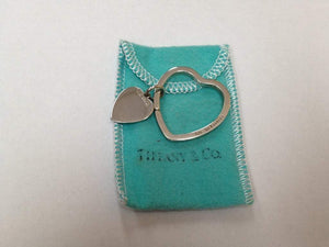 Tiffany & Co. Sterling Silver Heart Key Chain