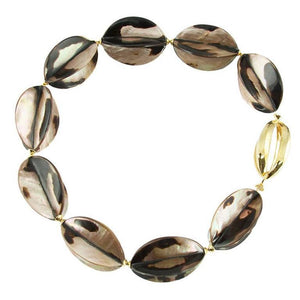 Shell Star Fruit Gilt Silver Statement Necklace