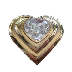 Yves Saint Laurent Paris Poudre Ecrin Crystal Heart Jeweled Compact  YSL