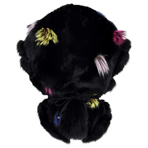 Luxurious Black Fox Fur with Fringe Accents Statement Stole Wrap