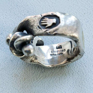 Rare Walter Schluep Abstract Sterling Silver Statement Ring