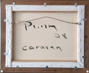 Caravan Acrylic on Canvas Abstract Painting Framed Andrew Plum