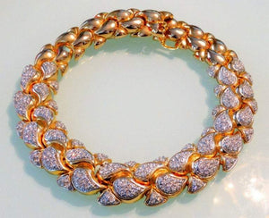 Christian Dior Crystal Runway Choker Collar Necklace