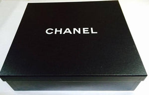 Chanel Round Black Logo Quilted Top Handle Leather Handbag New Unworn