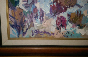 'Charlevoix' 003 Contemporary Oil on Board Painting Bedros Aslanian