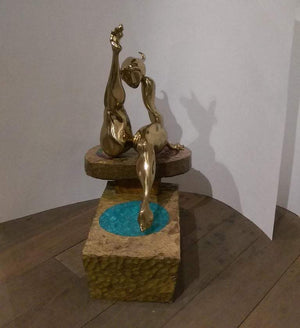 Chick Schwartz Art Bronze Sculpture 'The Sunbather' Fine Estate Find