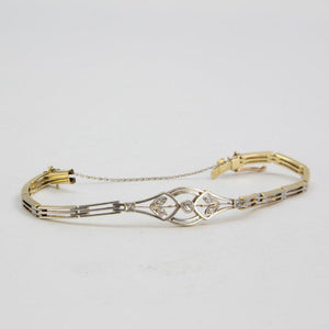 Edwardian Diamond Gold Bracelet