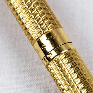 Mid-Century Modern 18K Yellow Gold Pen France