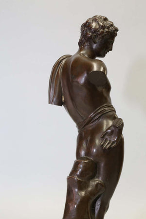 Antique Bronze Sculpture of Antinous of Belvedere, 19th Century, Italian