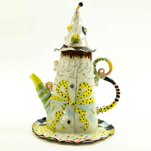 Rare Figural Porcelain Hand Crafted Teapot by Irina Zaytceva