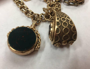 Antique Watch Fobs Gold Charm Bracelet