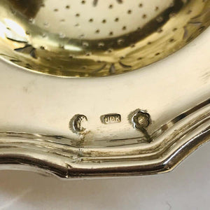 Antique Sterling Silver Tea Strainer