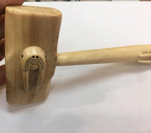 Hand Carved Walrus Seal Hammer