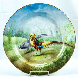Game Bird Pheasant Serving Platter, Boch Frères circa 1911