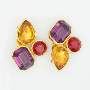 ALEXIS KIRK Jewel Clip Earrings