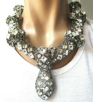 Sensational Swarovski Crystal Collar Necklace in Original Presentation Box