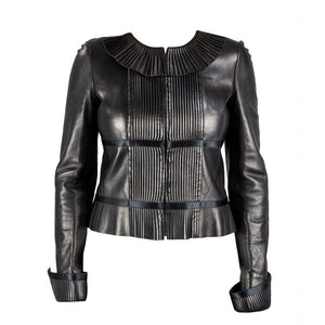 Iconic Chanel Black Lambskin Leather Jacket