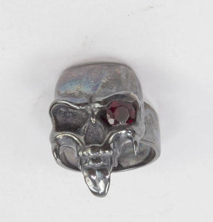 Dynamic Large Sterling Silver Skull Ring